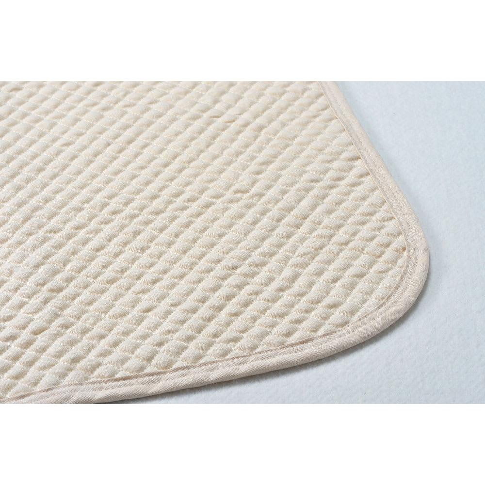 西川京都/麻素材使用 ポコポコ敷きパッド ダブル
