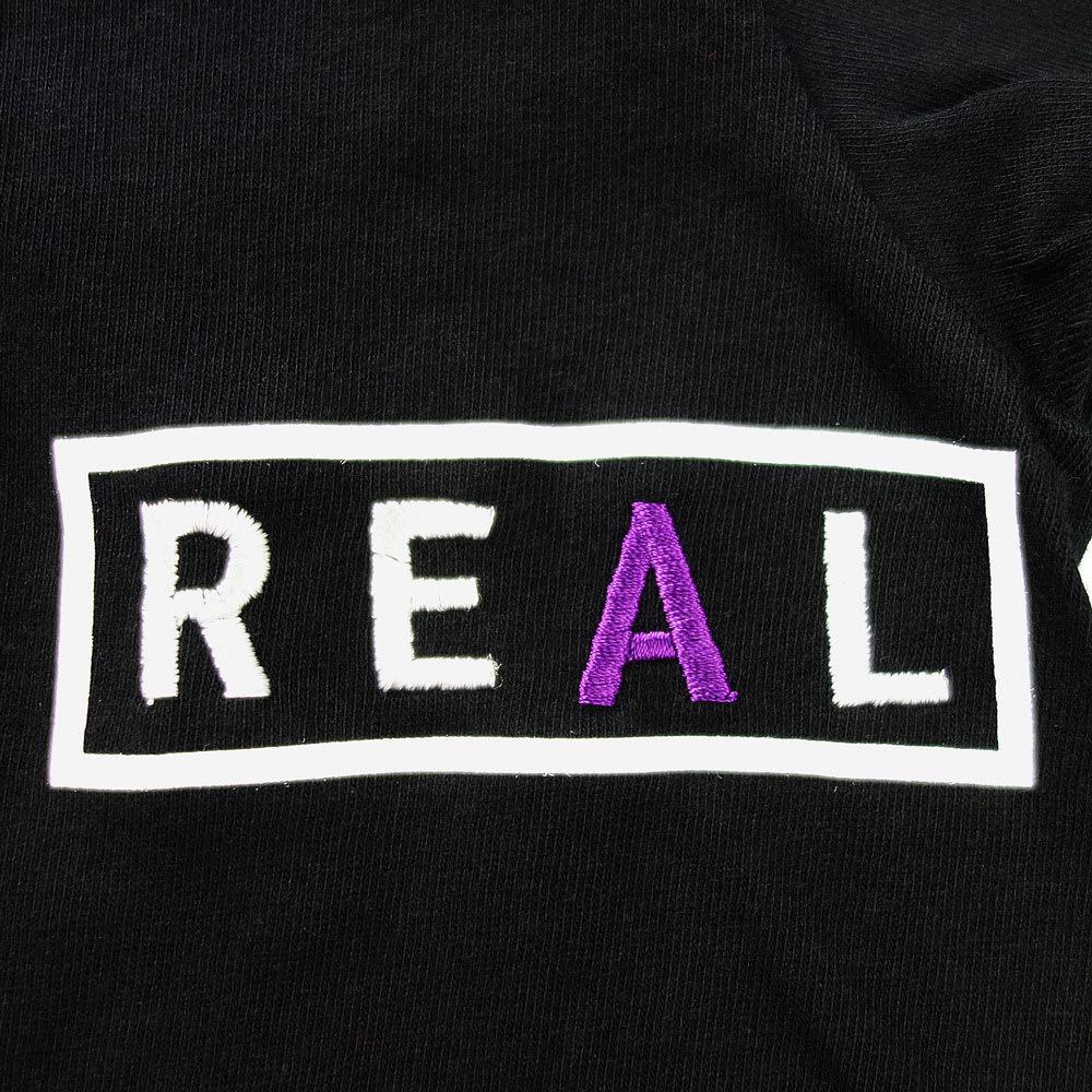 RealBvoice(リアルビーボイス)/フロントREAL&バックBVOICEロゴ レディスTシャツ ロゴ…front
