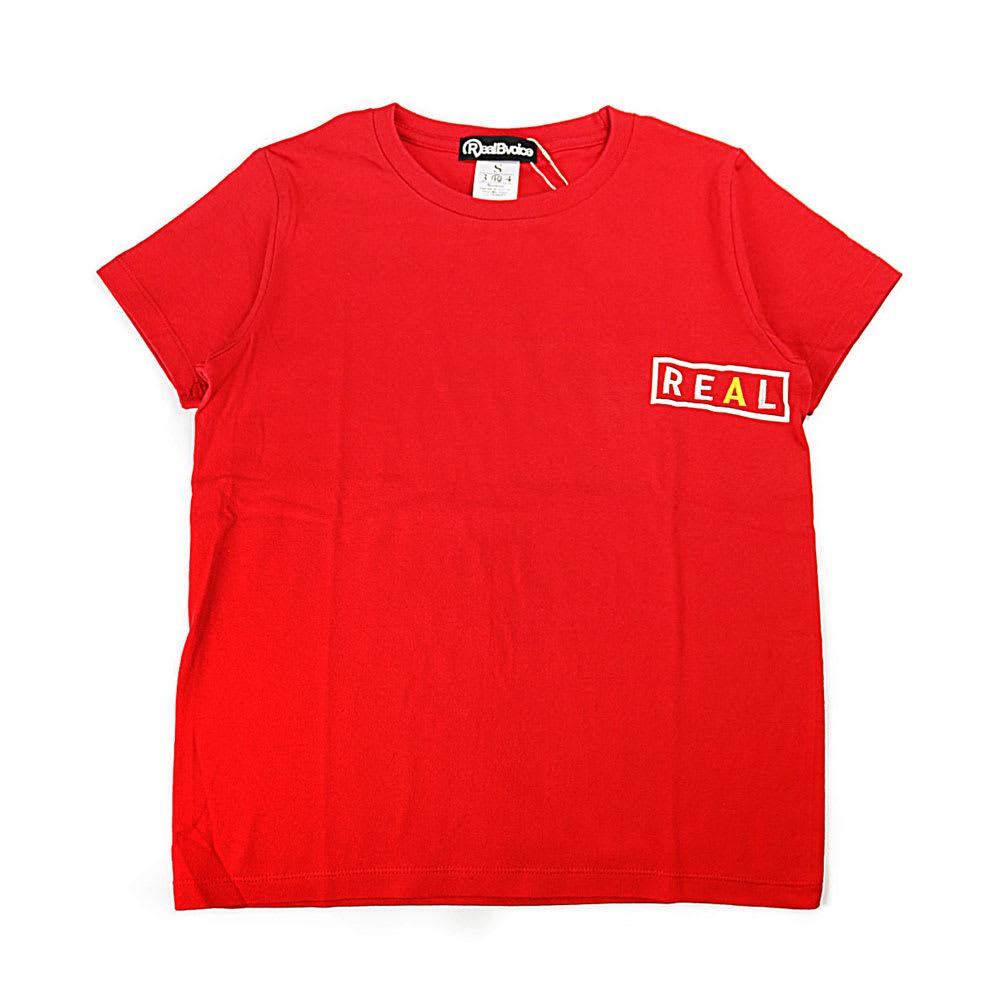RealBvoice(リアルビーボイス)/フロントREAL&バックBVOICEロゴ レディスTシャツ (ウ)レッド