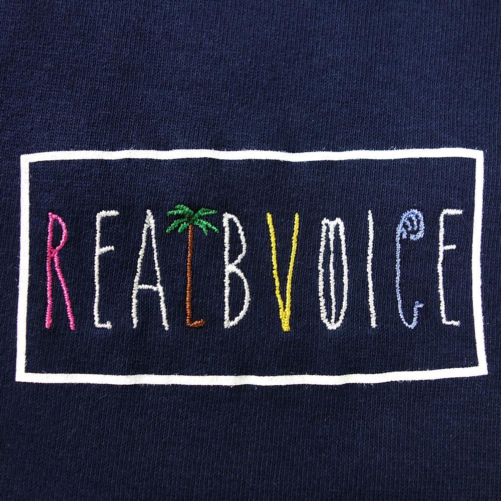 RealBvoice(リアルビーボイス)/パームツリー レディスTシャツ Lがヤシの木、Oがサーフボード、Cが波に!