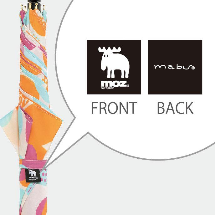 moz(モズ)/UVカットスリムジャンプ傘 フォレストデザイン 表裏でデザインが異なるダブルネームの織ネーム