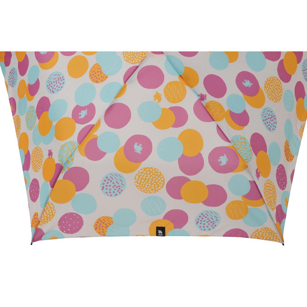 moz(モズ)/UVカット折り畳み傘 エルクと水玉 (ア)ドットピンク