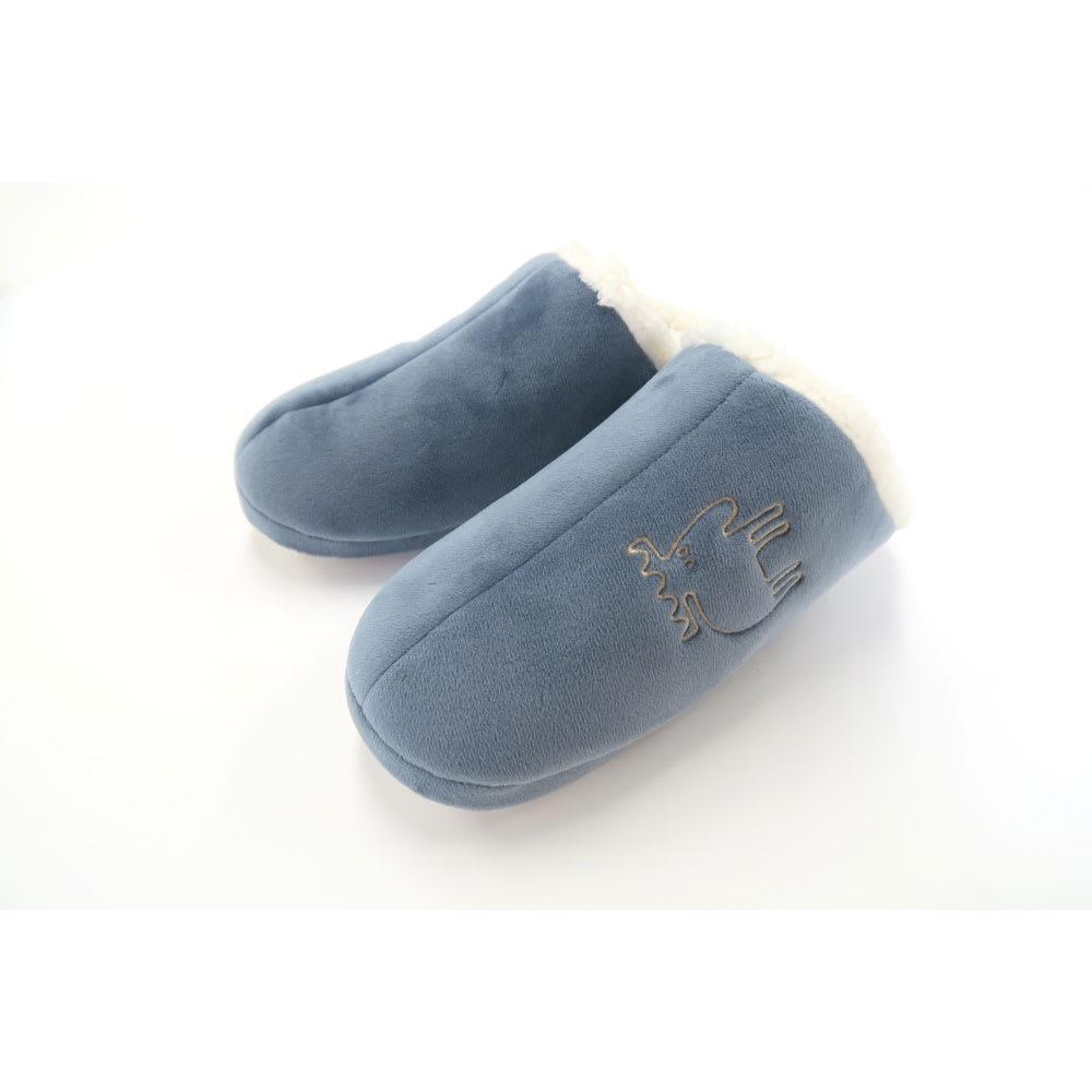moz(モズ)/ボアルームシューズ (ウ)ブルー…Sサイズ