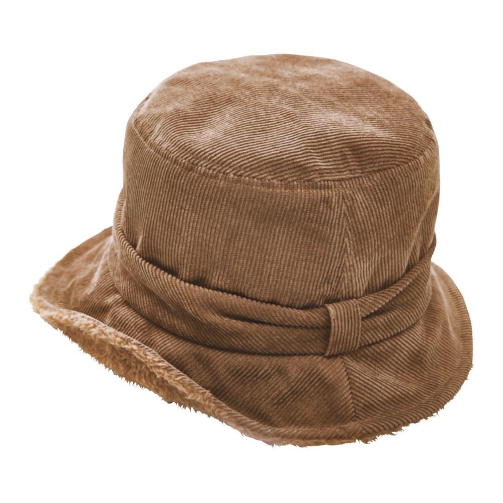 COGIT(コジット)/ボアコーデュロイ帽子 (イ)ブラウン ワイヤー入りでツバの角度が自在に変えられます