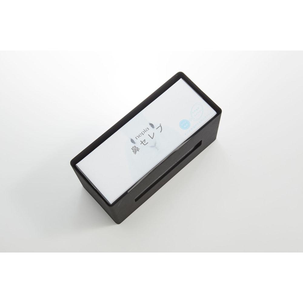 両面ティッシュケース RIN 厚めの箱でも収納できます