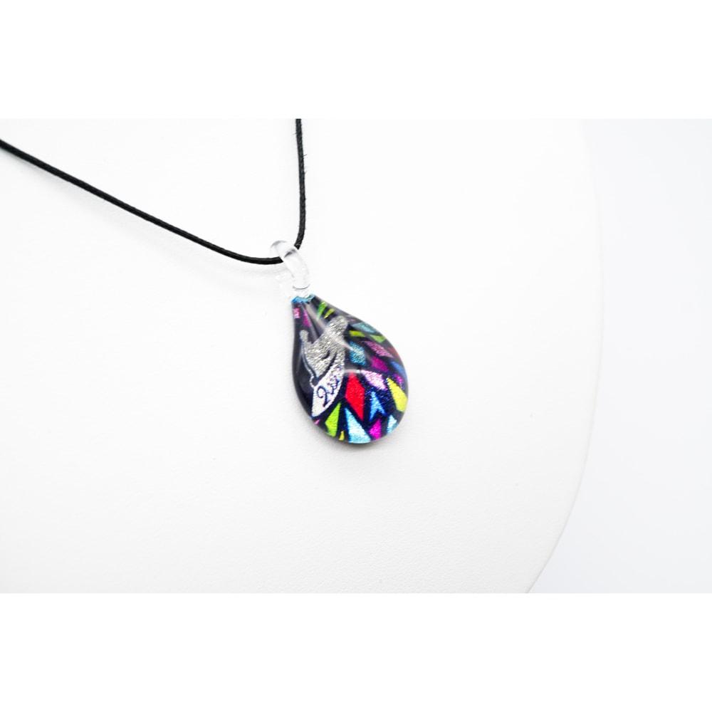 日本製ハンドメイドグラスジュエリー|ノースワングラスジュエリー/ETO2020MOUSE/干支ハリネズミ ドロップネックレス