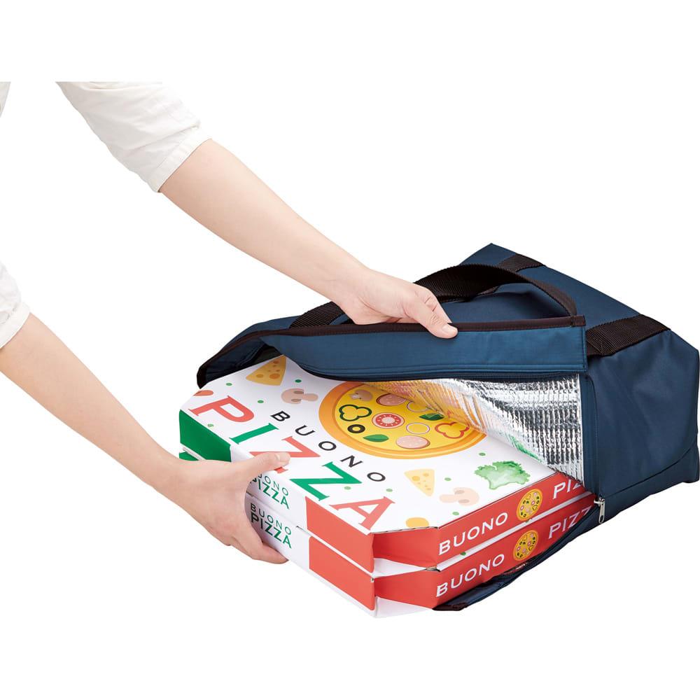 COGIT(コジット)/保温保冷2wayデリバッグ ピザのLサイズが2箱すっぽり入ります