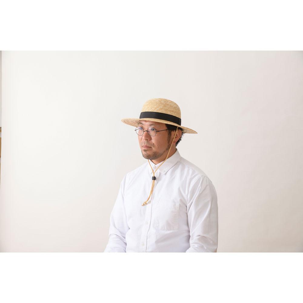 田中帽子店/麦わらつば広ハット ロジャー