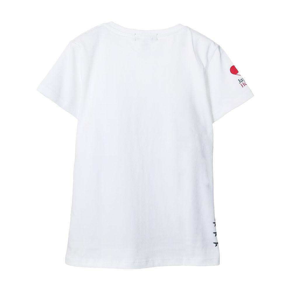 RealBvoice(リアルビーボイス)/ジャパンハート サーフボード レディスTシャツ (ア)ホワイト…back