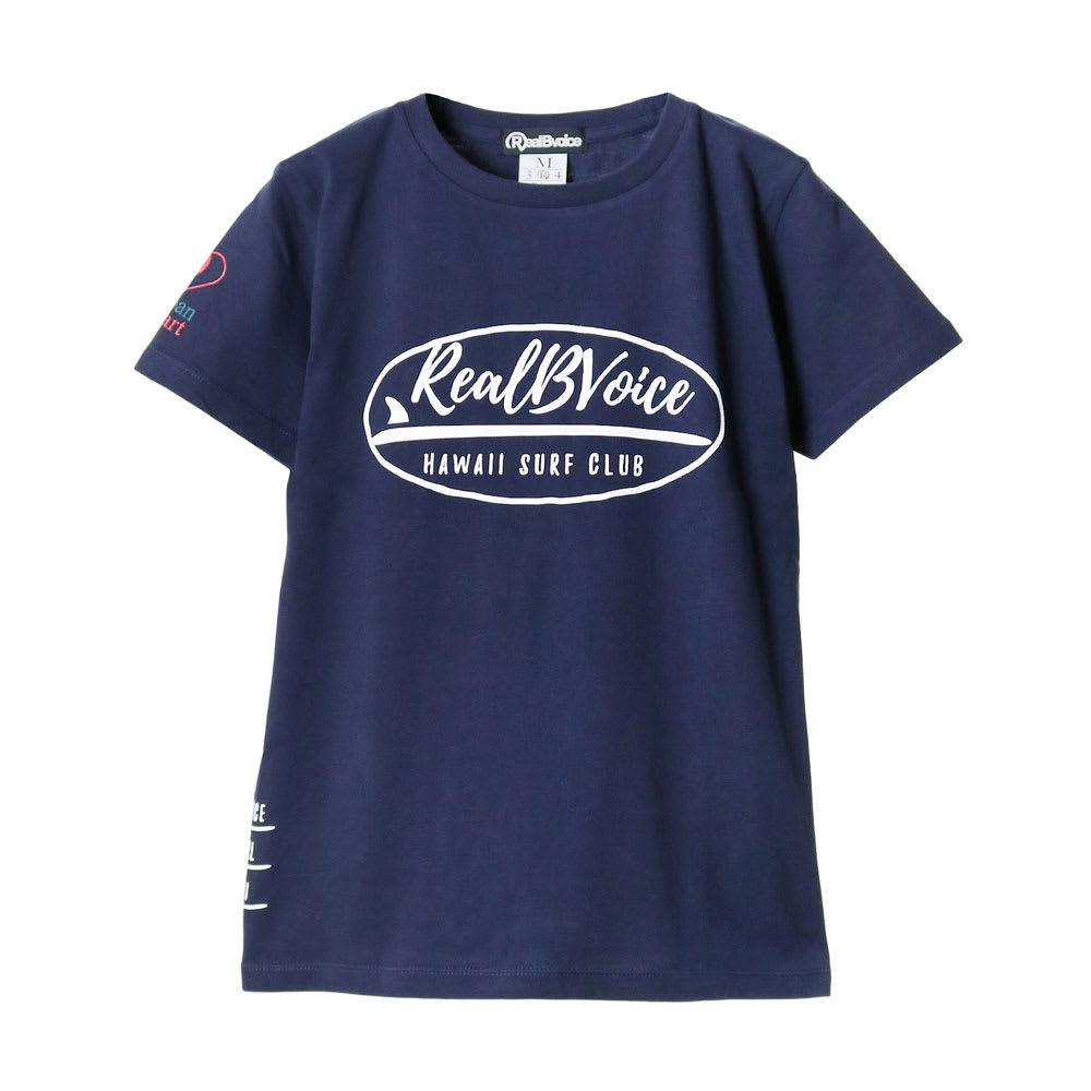 RealBvoice(リアルビーボイス)/ジャパンハート サーフボード レディスTシャツ (イ)ネイビー…front