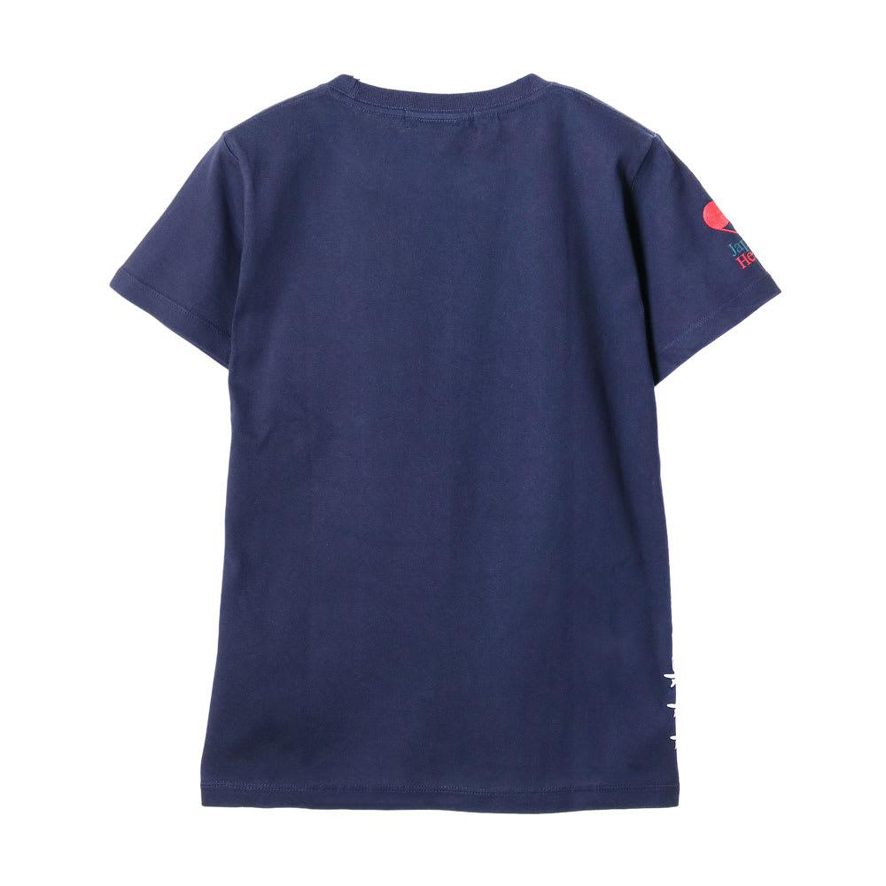 RealBvoice(リアルビーボイス)/ジャパンハート サーフボード レディスTシャツ (イ)ネイビー…back