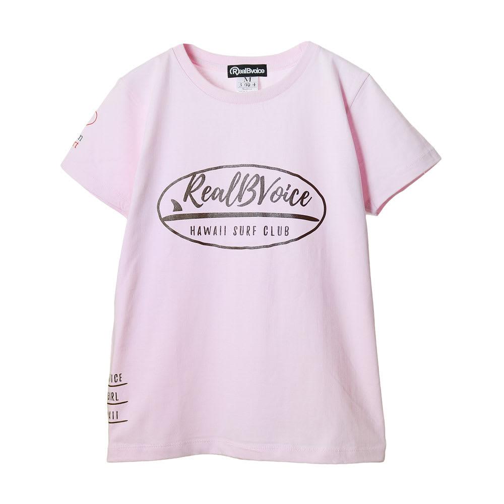 RealBvoice(リアルビーボイス)/ジャパンハート サーフボード レディスTシャツ (ウ)ライトピンク…front