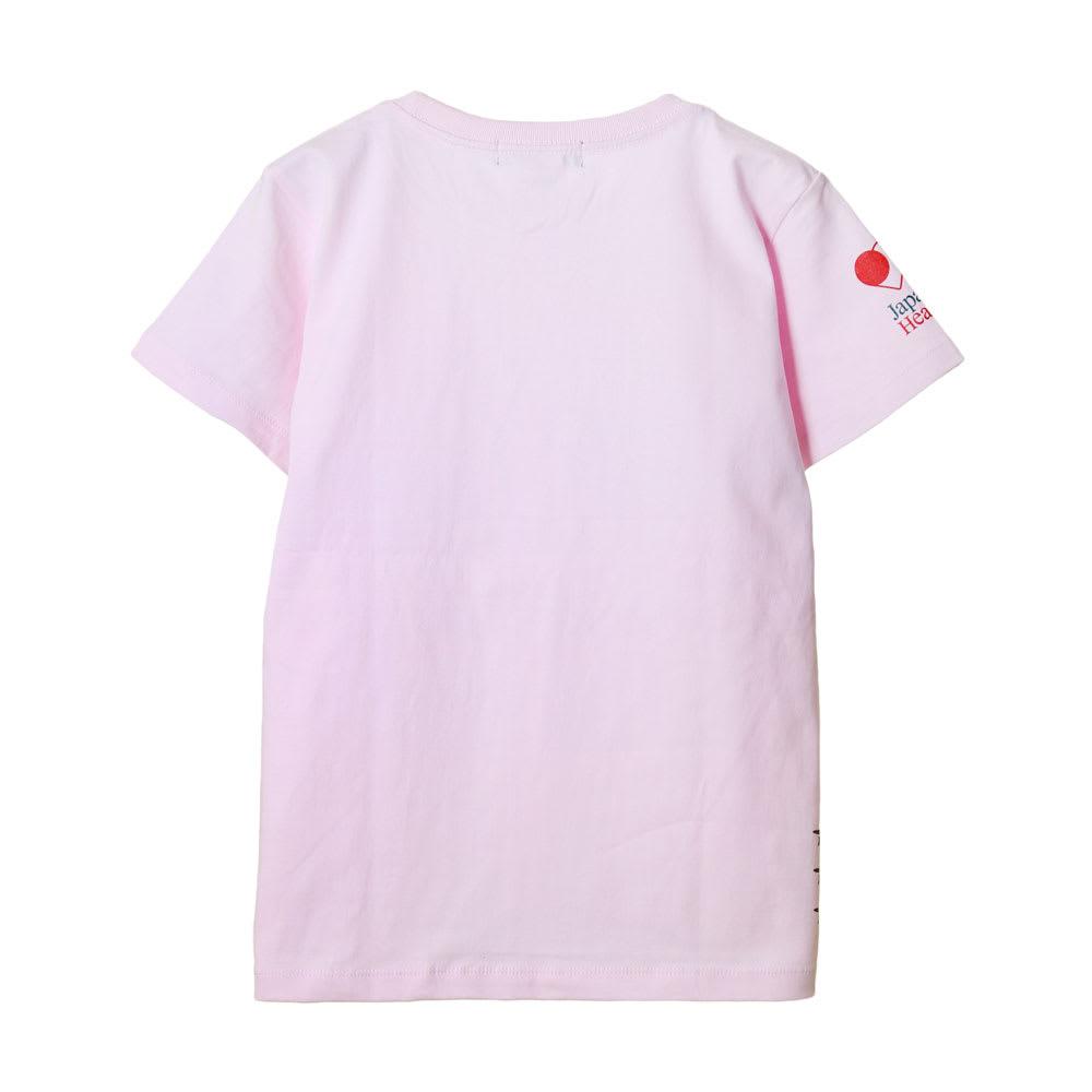 RealBvoice(リアルビーボイス)/ジャパンハート サーフボード レディスTシャツ (ウ)ライトピンク…back