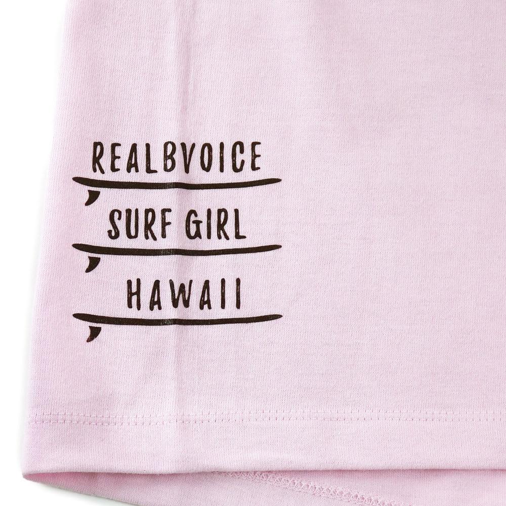 RealBvoice(リアルビーボイス)/ジャパンハート サーフボード レディスTシャツ (ウ)ライトピンク