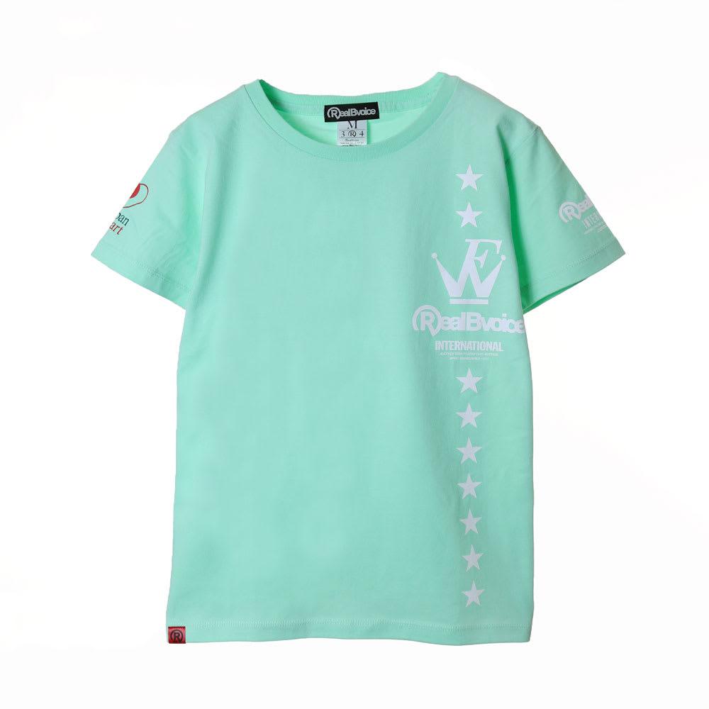RealBvoice(リアルビーボイス)/ジャパンハート ウェーブファイターレディスTシャツ (イ)ライトグリーン…front