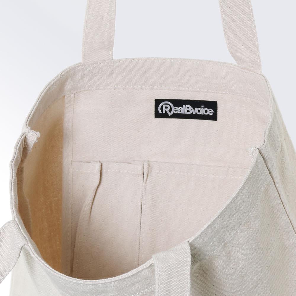 RealBvoice(リアルビーボイス)/ジャパンハート スクエアロゴ キャンバストートバッグ 内ポケット付き