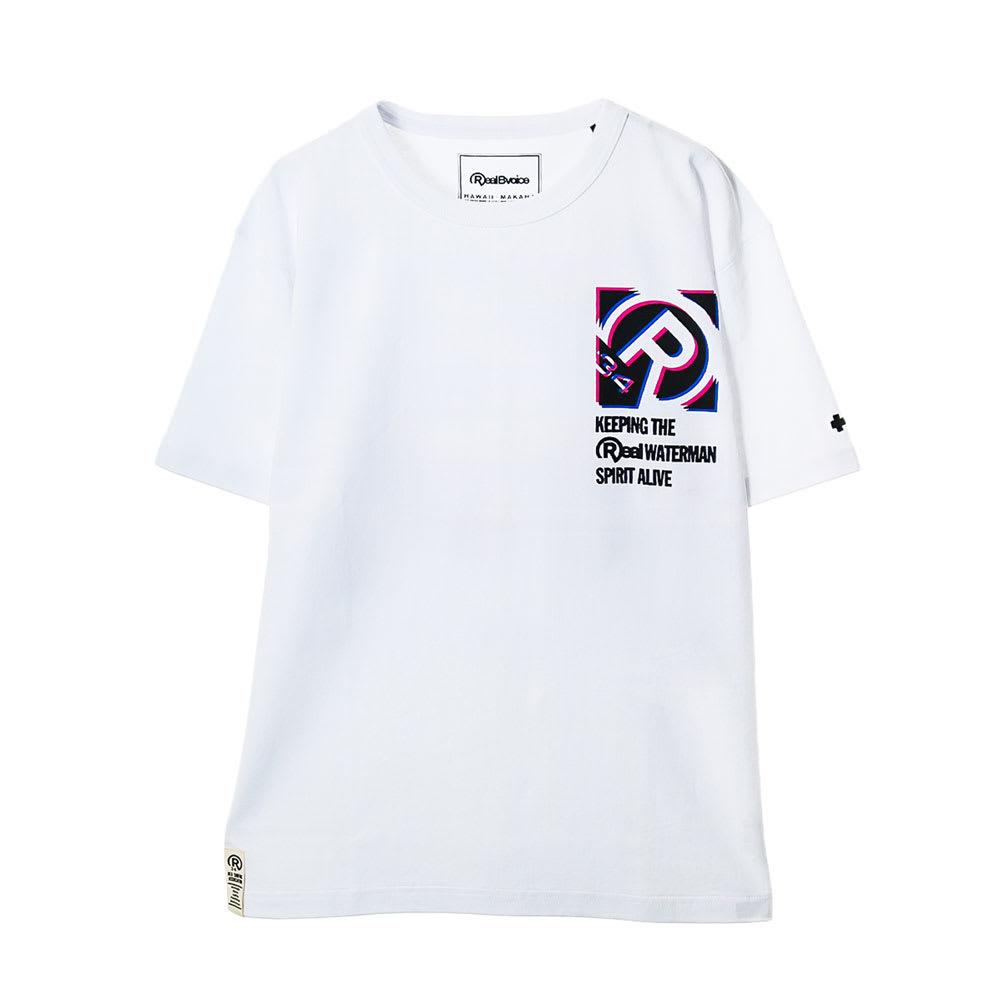 RealBvoice(リアルビーボイス)/ボックス シフト Tシャツ (ア)ホワイト…front