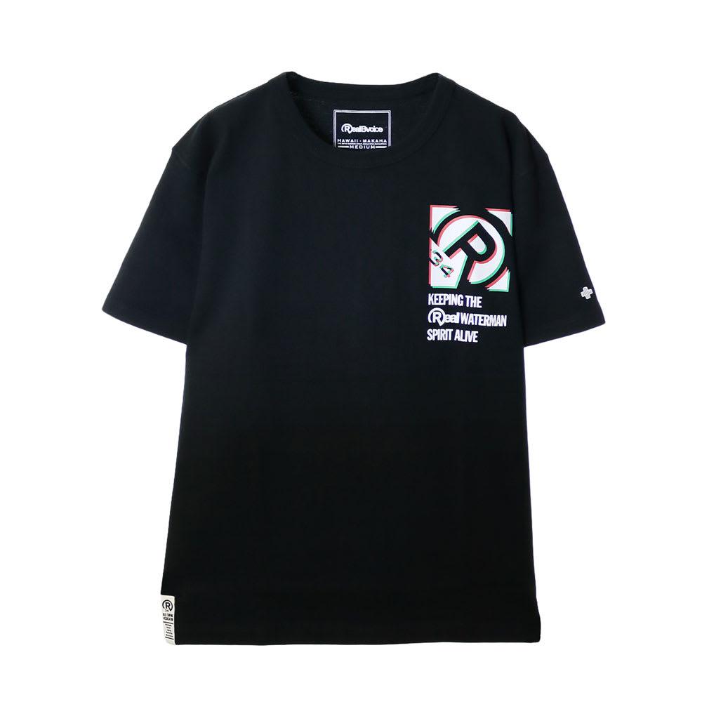RealBvoice(リアルビーボイス)/ボックス シフト Tシャツ (イ)ブラック…front