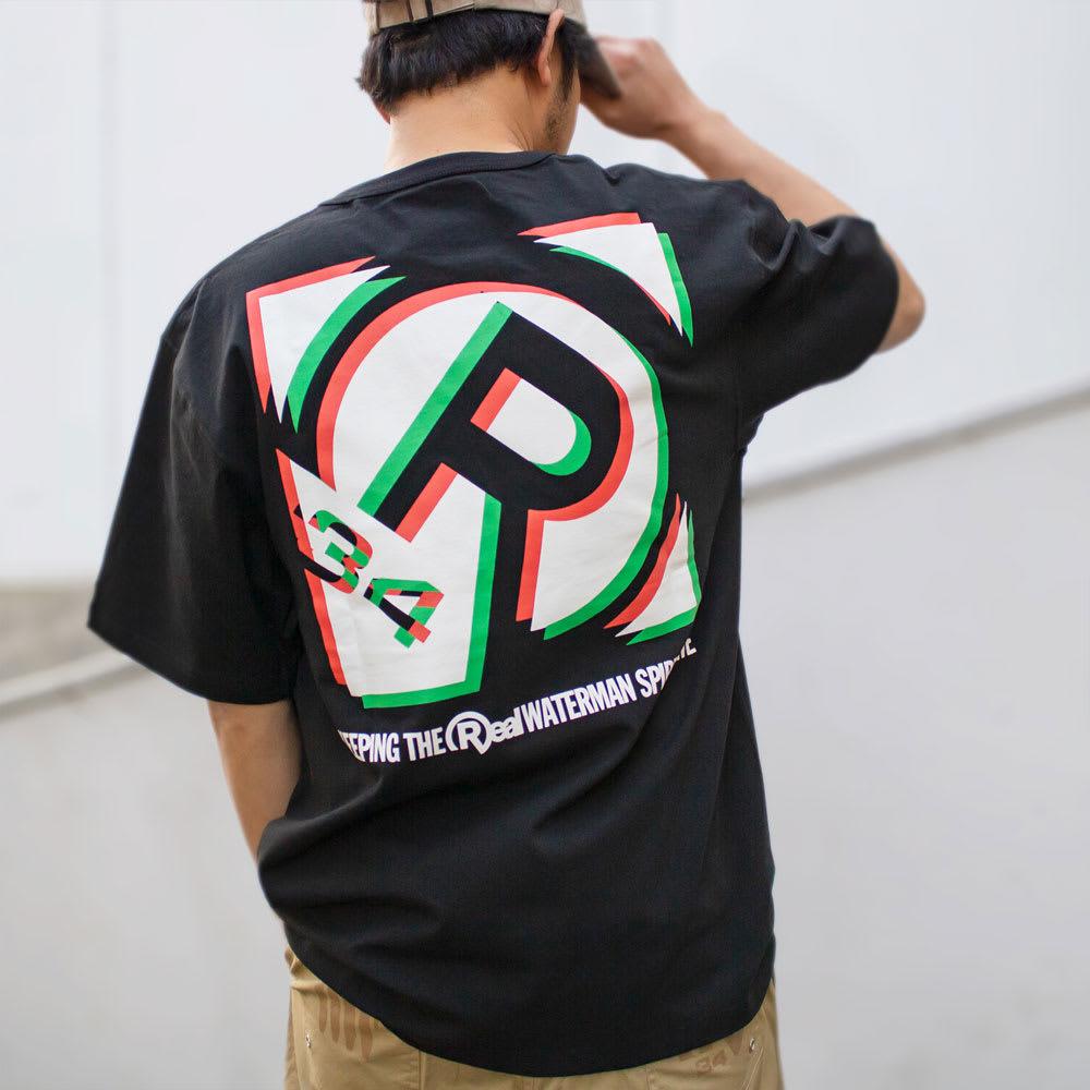 RealBvoice(リアルビーボイス)/ボックス シフト Tシャツ モデル着用…(イ)ブラック
