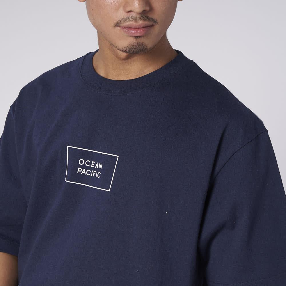 OP(オーシャンパシフィック)/クラシカルデザイン メンズTシャツ (イ)ネイビー
