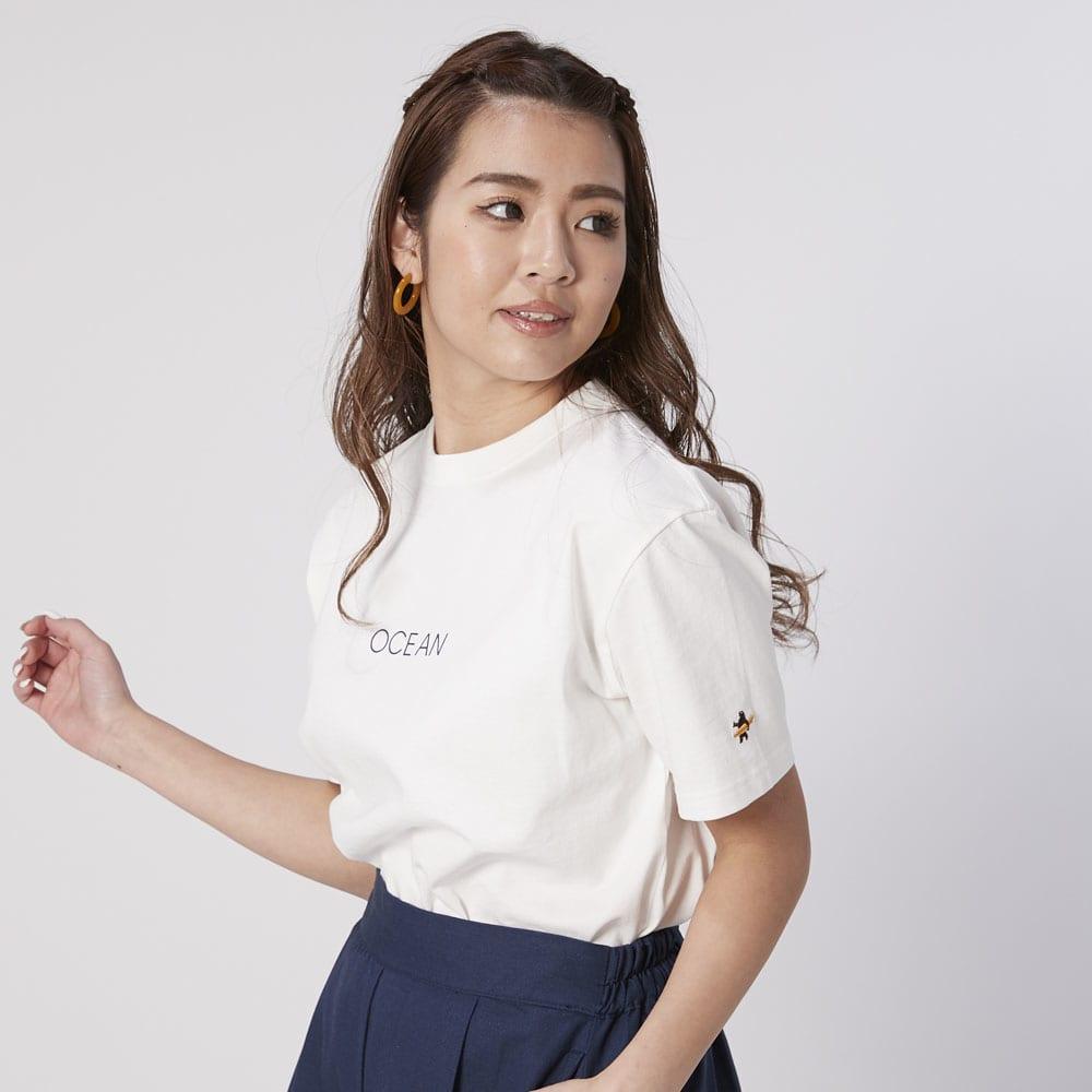 OP(オーシャンパシフィック)/シンプルロゴデザイン レディスTシャツ (ア)ホワイト