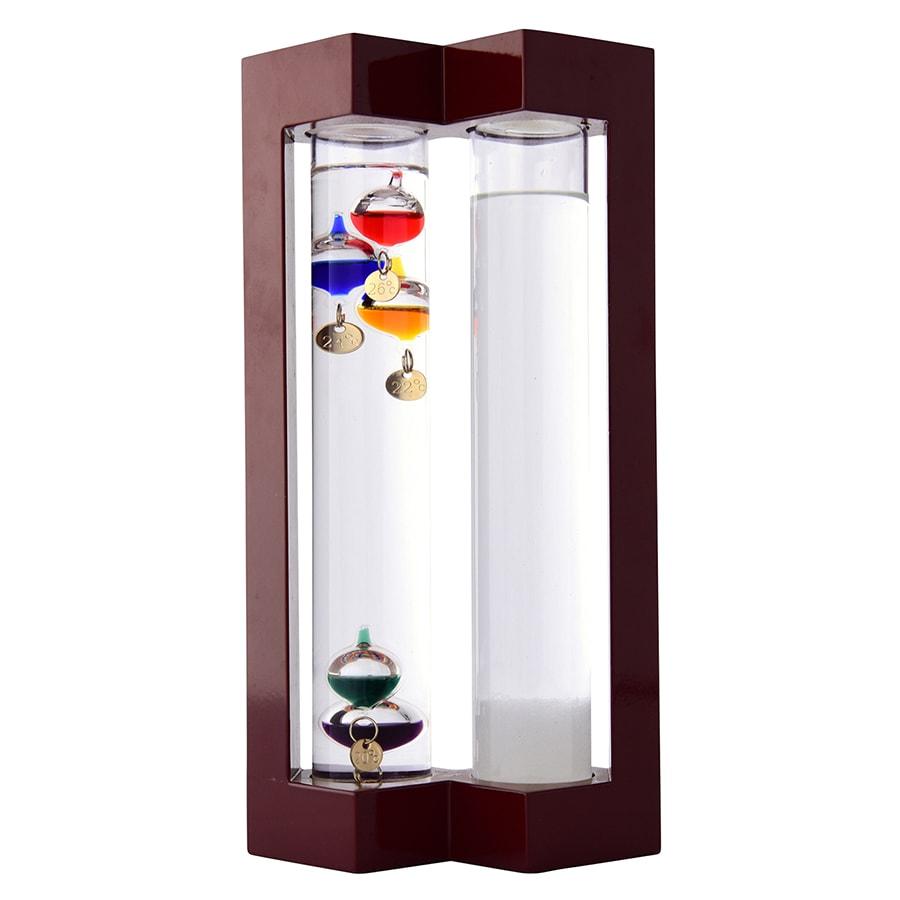 温度計&ストームグラス L 左からガリレオ温度計、ストームグラス