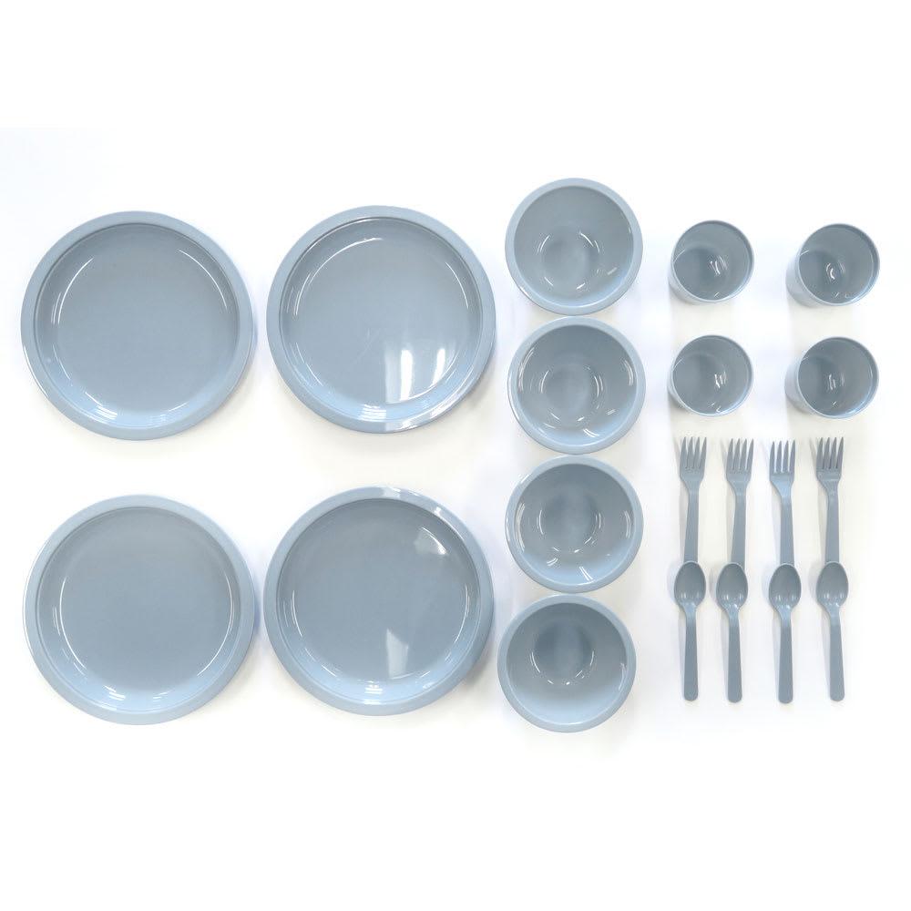 moz(モズ)/カトラリーセット セット内容…皿×4、椀×4、コップ×4、スプーン×4、フォーク×4