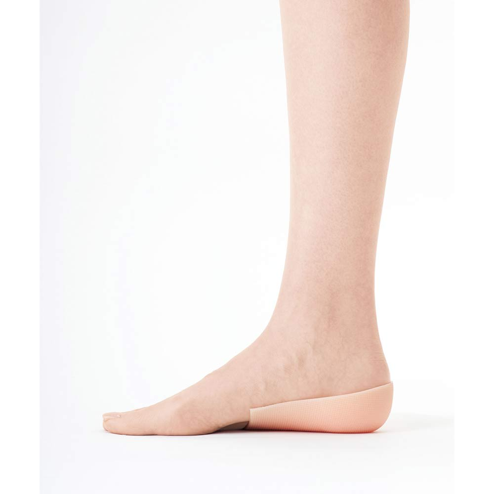 GEL 脚長ウォーク シークレットインソール 本品を素足に装着します