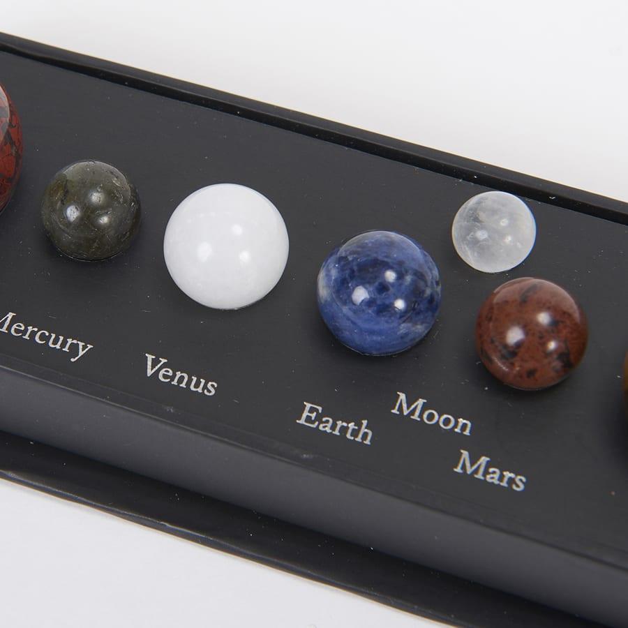 コズミックジェムストーン 太陽系 左から水星、金星、地球、月、火星