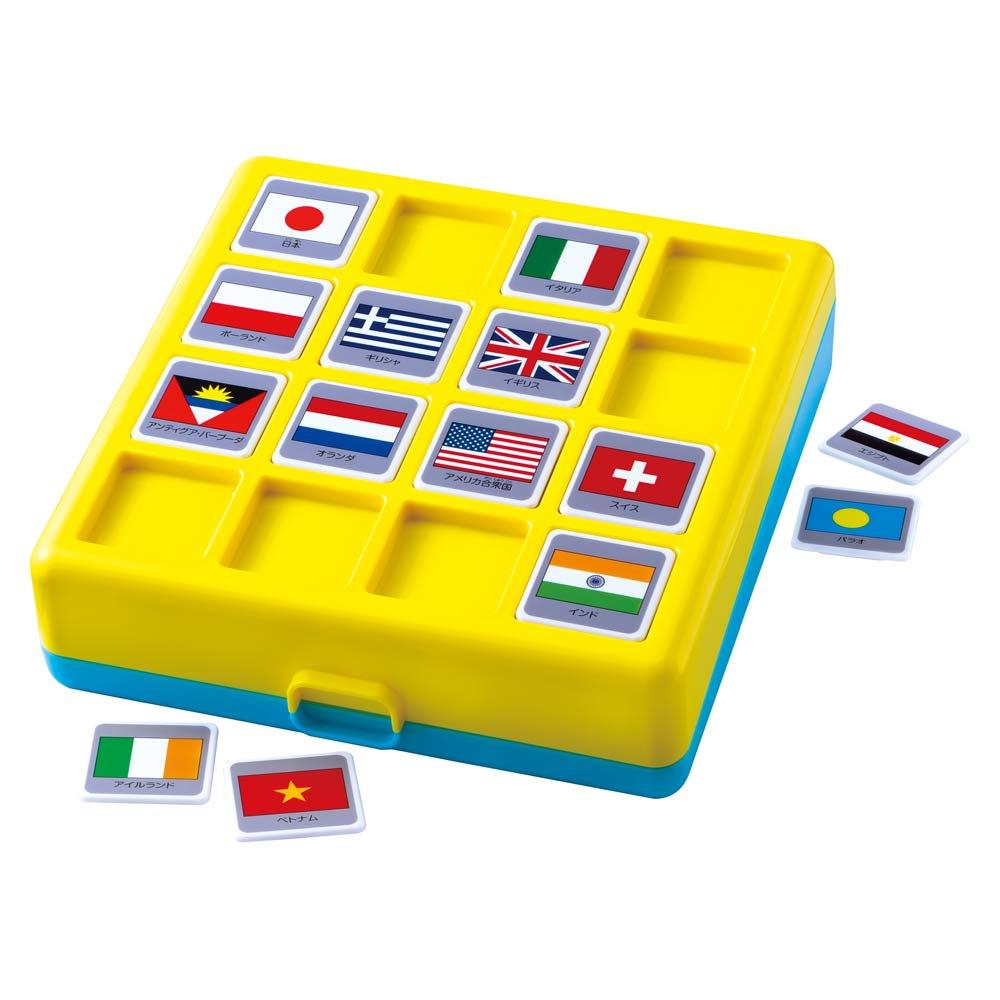 くもん/ロジカル国旗パズル 黄色トレイ