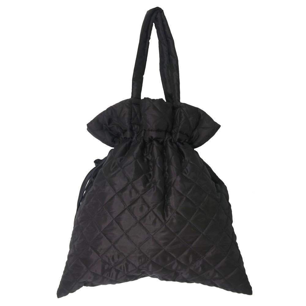 moz(モズ)/キルティング巾着トートバッグ (ウ)ブラック