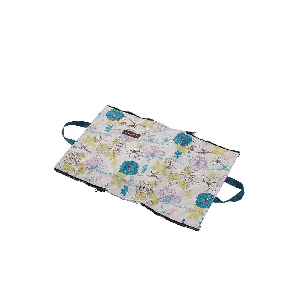 cocoro picnic(ココロ ピクニック)/コクリコ ピクニックバッグS ジップを開いてランチョンマットに