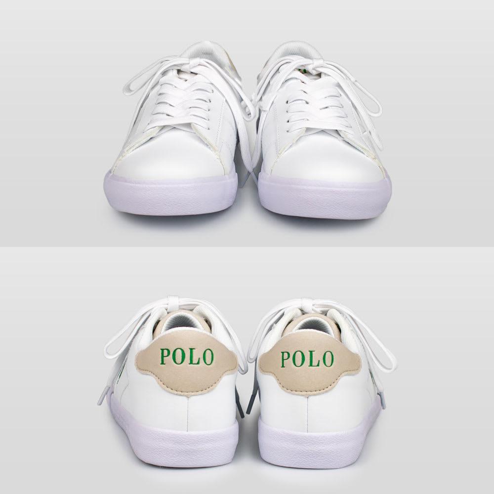 POLO RALPHLAUREN(ポロラルフローレン)/THERON(セロン)スニーカー ジュニア用 (ア)ホワイト/グリーン