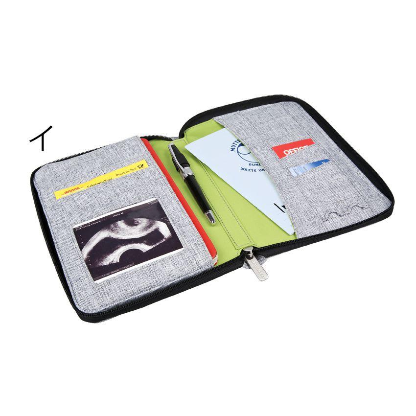 Laessig(レッシグ)/グリーンレーベル ドキュメントポーチ(母子手帳ケース) 診察券や保険証、領収書やお薬手帳などたくさんのものがひとまとめに収納できます