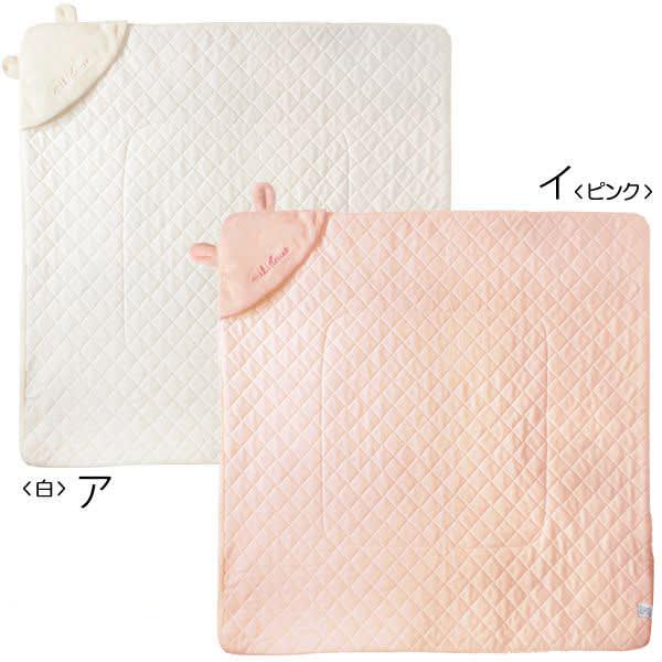 miki HOUSE(ミキハウス)/おくるみおみみアフガン|ベビー ホワイト/ピンク ベビー用品