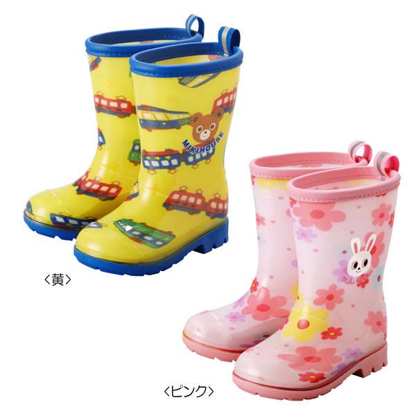 miki HOUSE(ミキハウス)/プッチーうさこ レインブーツ|長靴 (イ)イエロー、(ア)ピンク