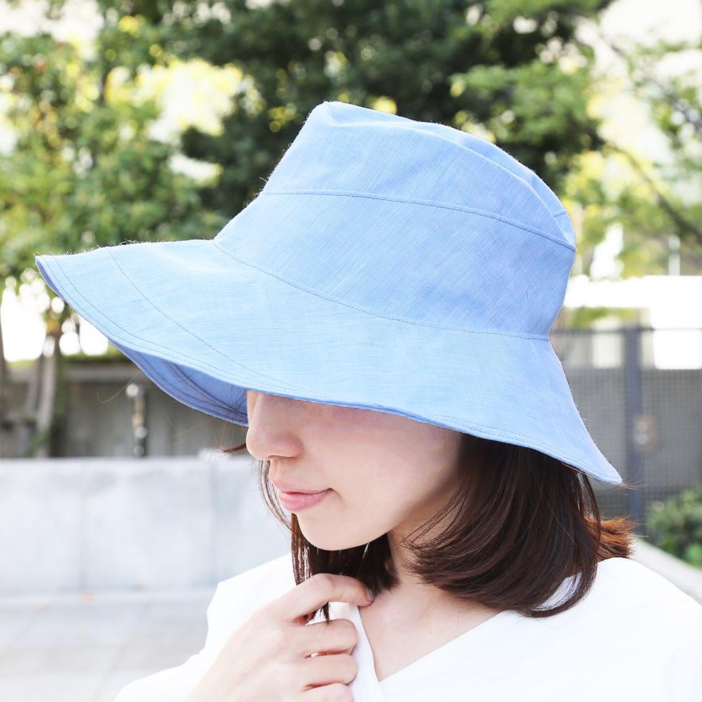 ORIHARA STYLE(オリハラスタイル)/エスカルゴ帽 レディース ベージュ/サックスブルー 帽子・ニット帽・キャスケット