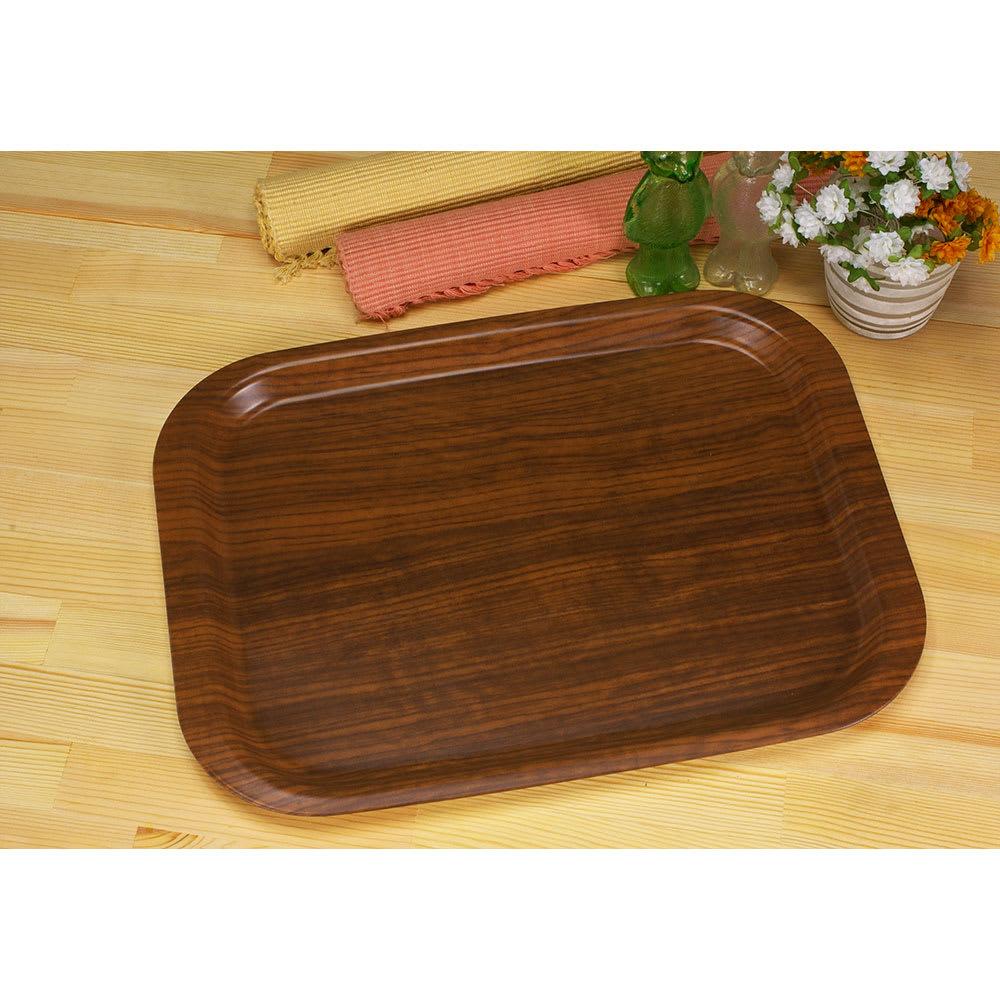 (Mサイズ)橋本達之助工芸/すべり止め加工の木目調トレー|日本製 ダークブラウン/ナチュラル お盆・トレイ