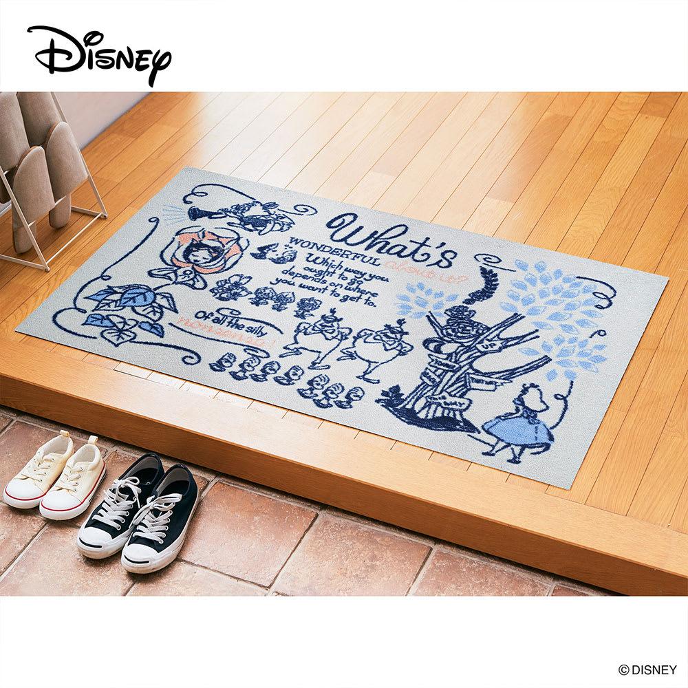 不思議の国のアリス/玄関マット 75×120cm|Disney(ディズニー)