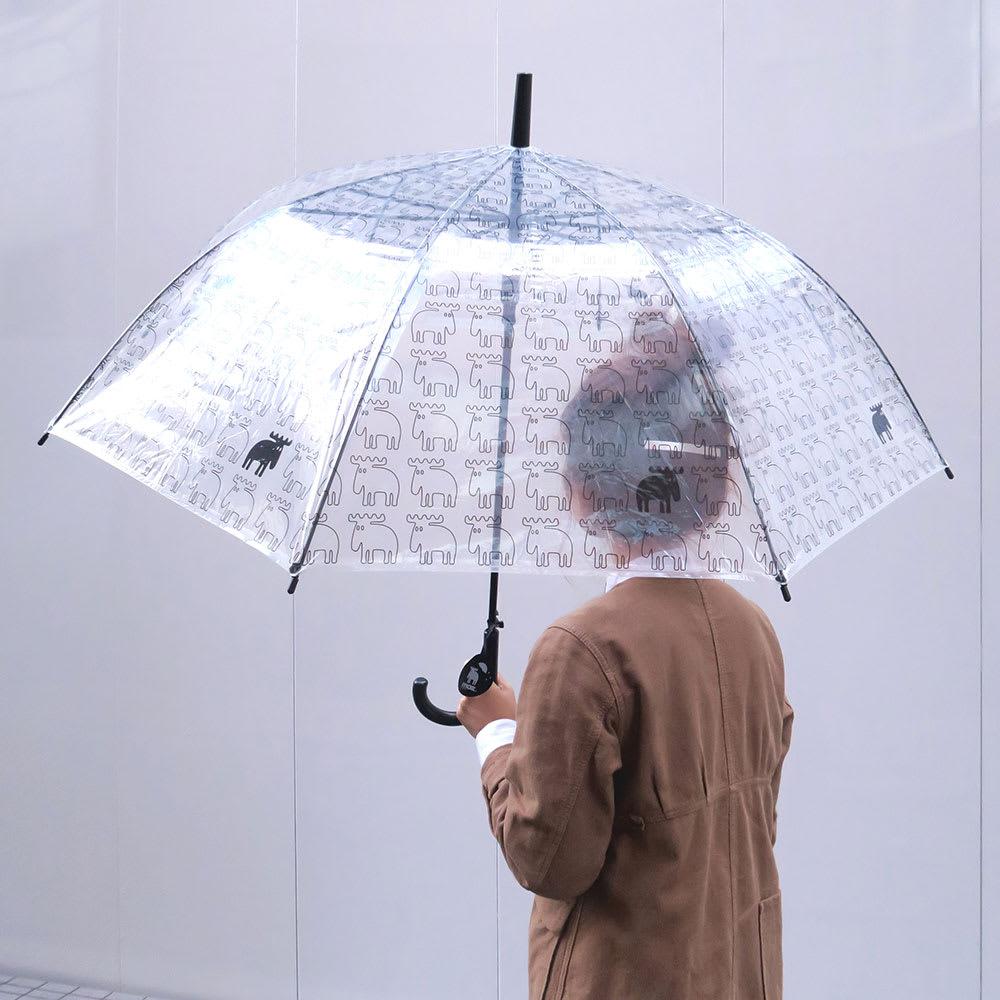 moz(モズ)/ビニール傘|エルク (ア)ブラック…使用イメージ