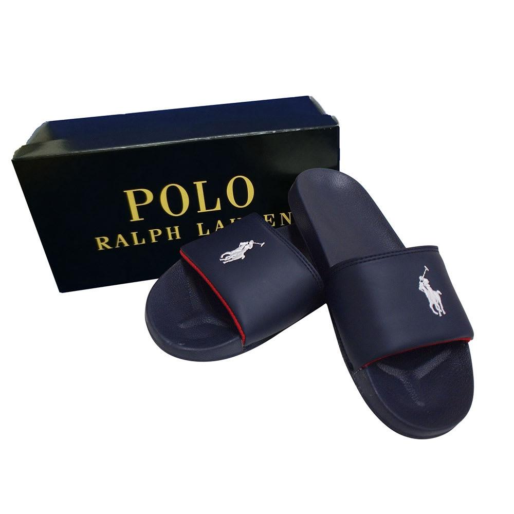 POLO RALPHLAUREN(ポロラルフローレン)/REMI SLIDE II(レミスライド ツー)サンダル(23.0-25.0cm) ジュニア用 (ア)ネイビー