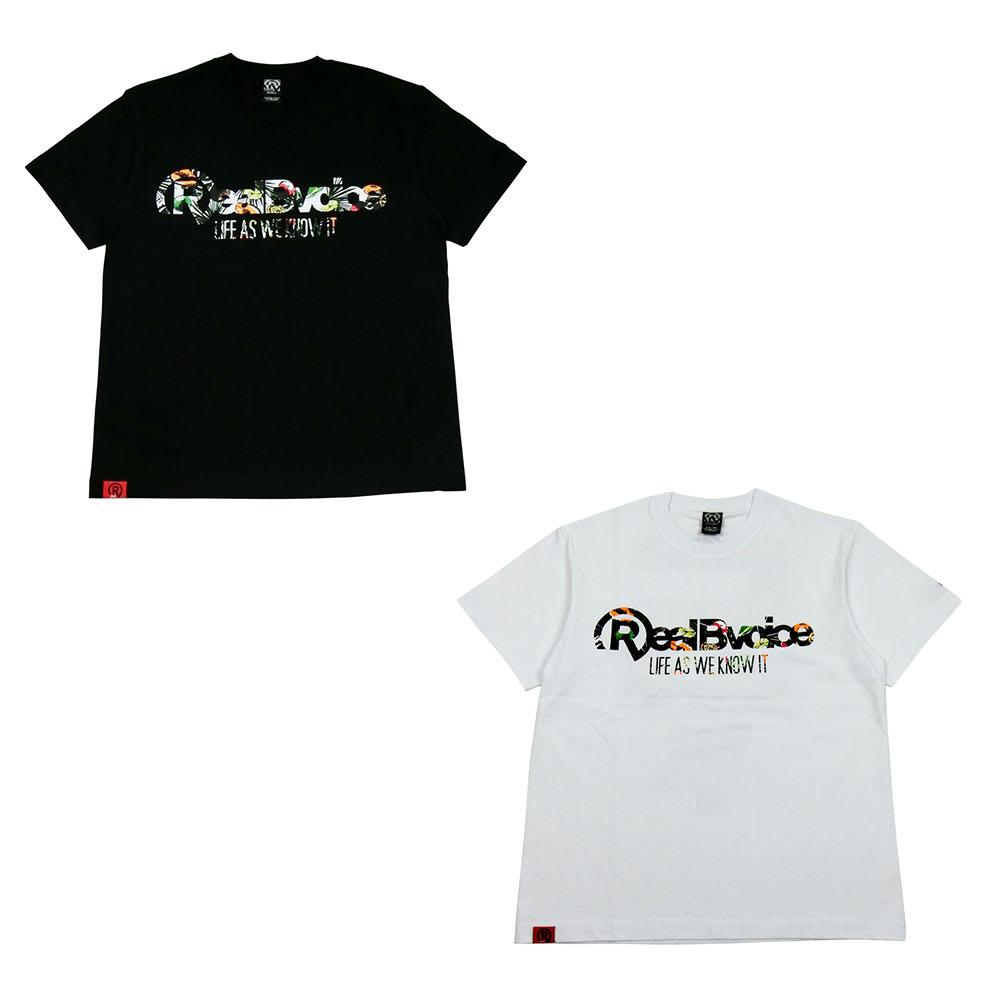 RealBvoice(リアルビーボイス)/フルーツ メンズTシャツ (イ)ブラックフルーツ、(ア)ホワイトフルーツ