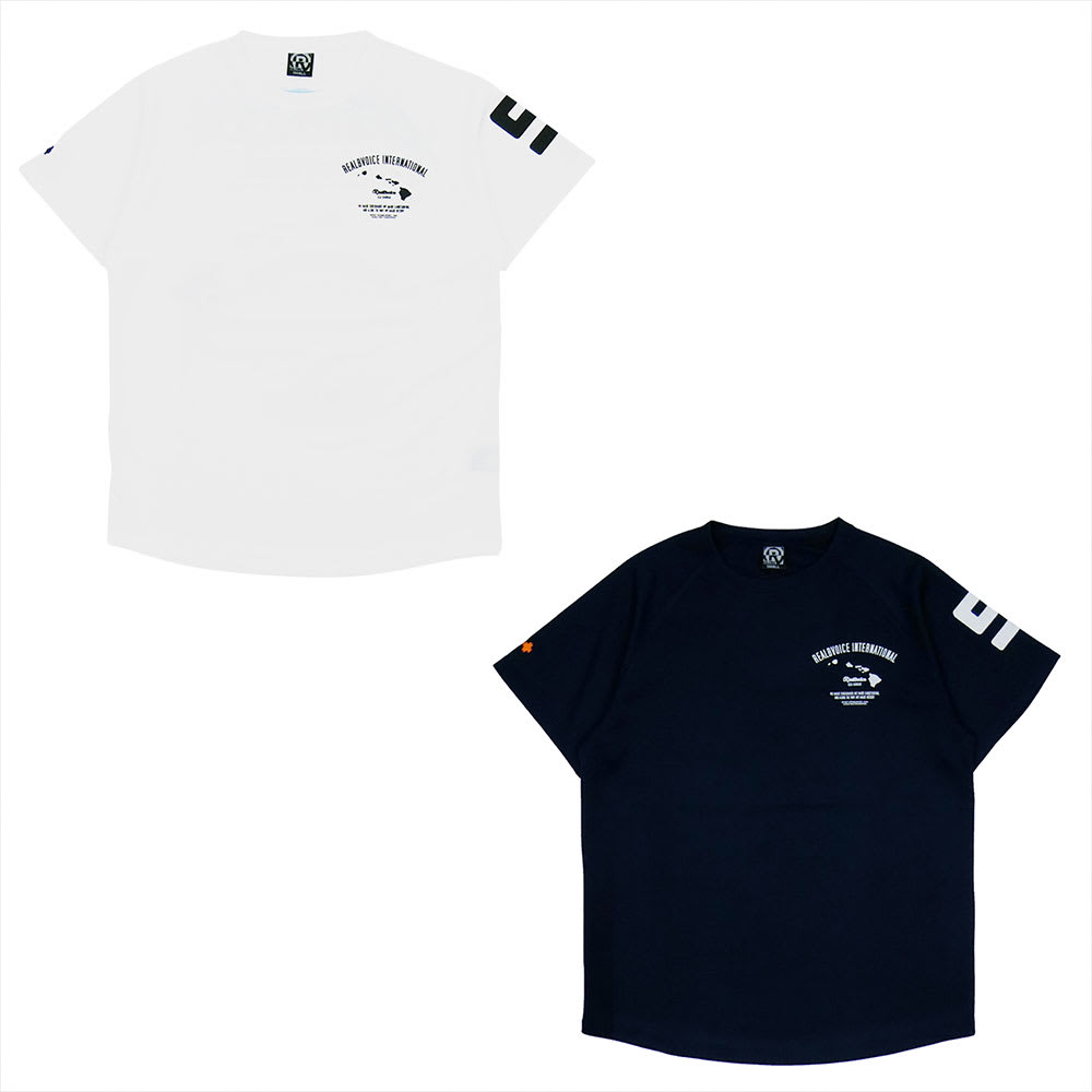 RealBvoice(リアルビーボイス)/ゴービーチ メンズドライTシャツ (ア)ホワイト、(イ)ネイビー