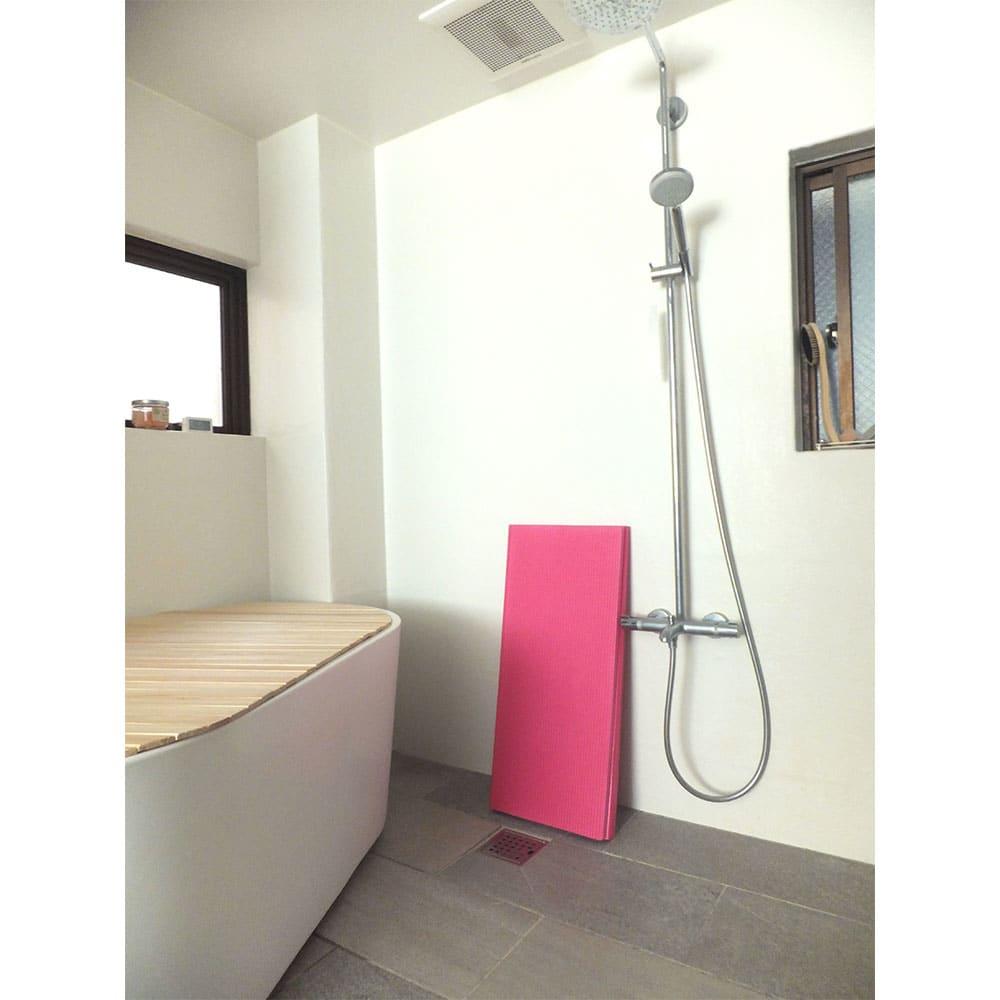 パタッとたためるすのこ ロング長さ120cm (イ)ピンク
