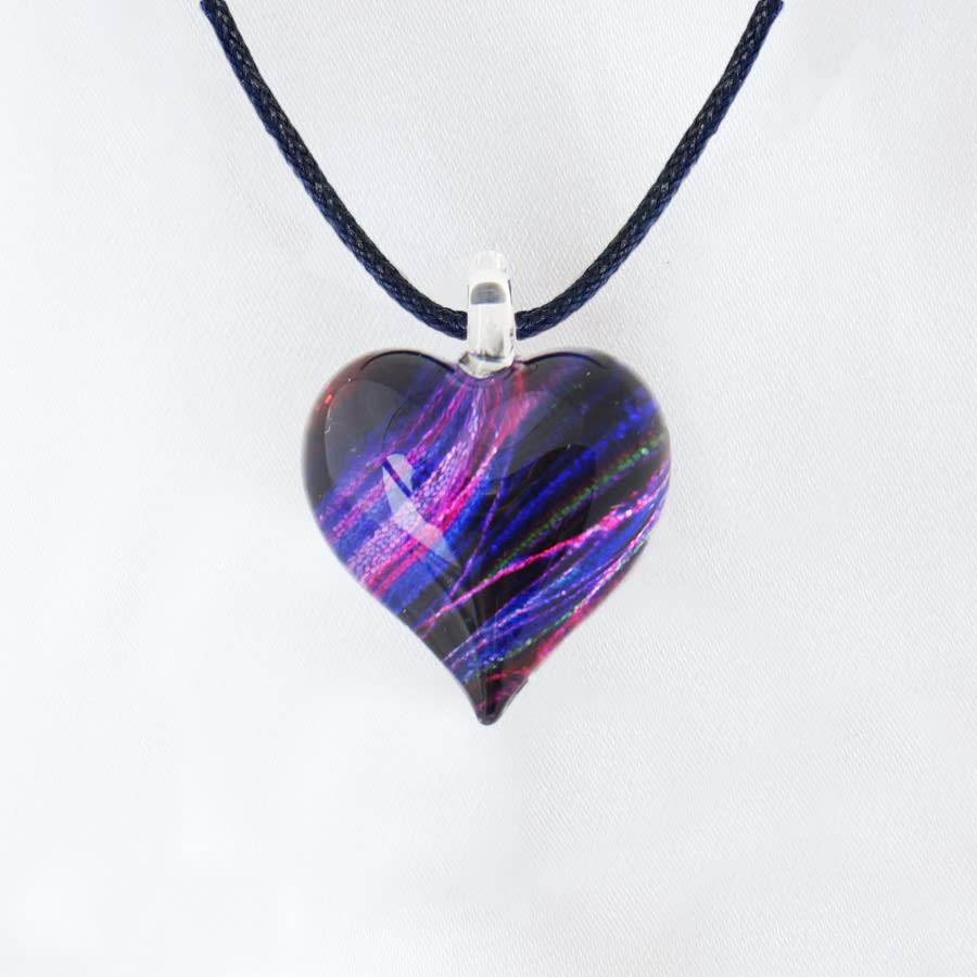日本製ハンドメイドグラスジュエリー|ノースワングラスジュエリー/Purple Line パープルラインネックレス