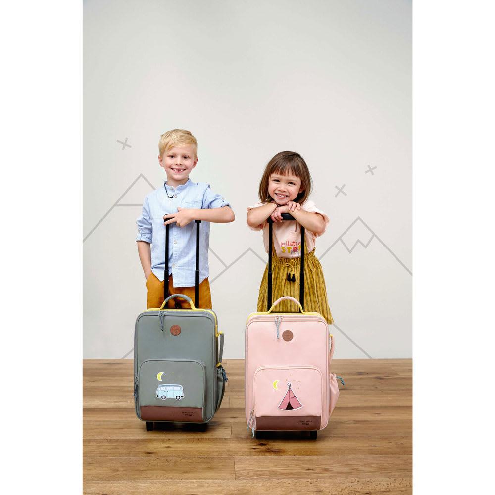 Laessig(レッシグ)/キッズ トローリー ピンク スーツケース(ソフトタイプ)