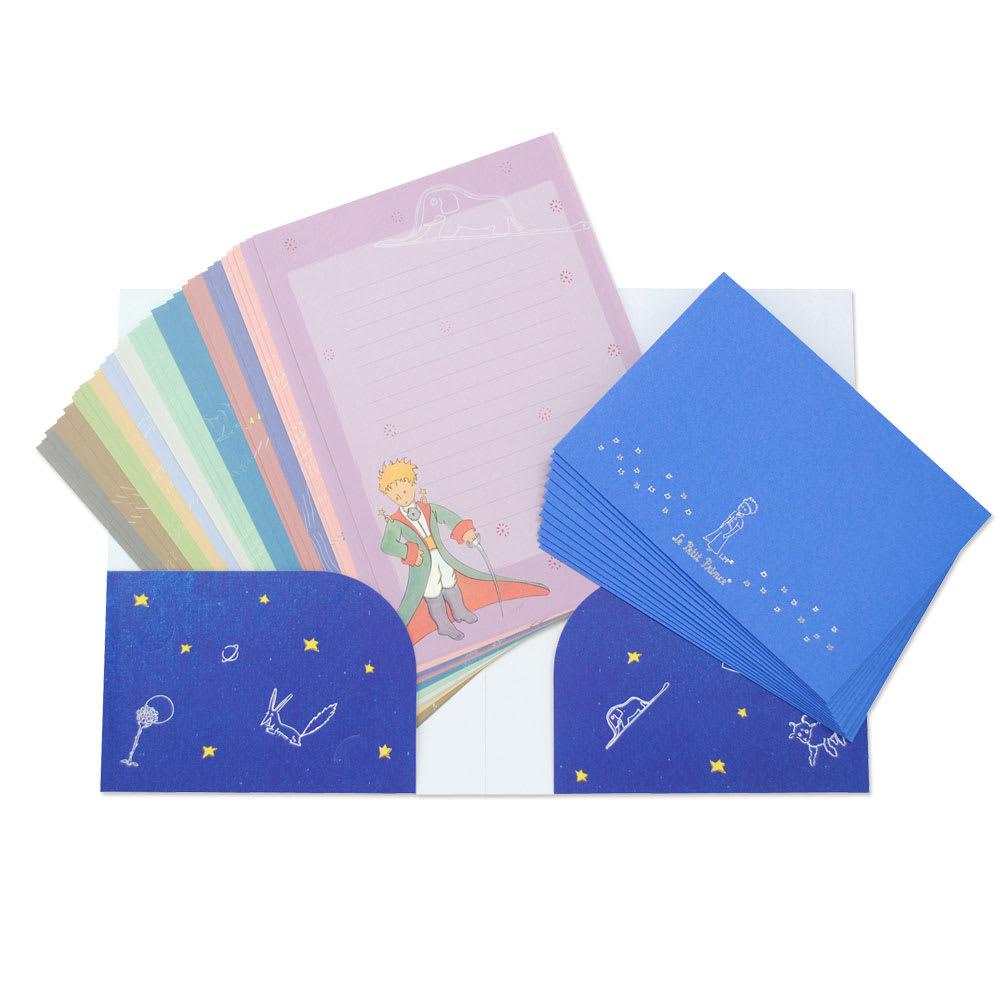 ディアカーズ/星の王子さま 大容量レターセット 便箋は12絵柄×3の36枚、封筒は12枚入り