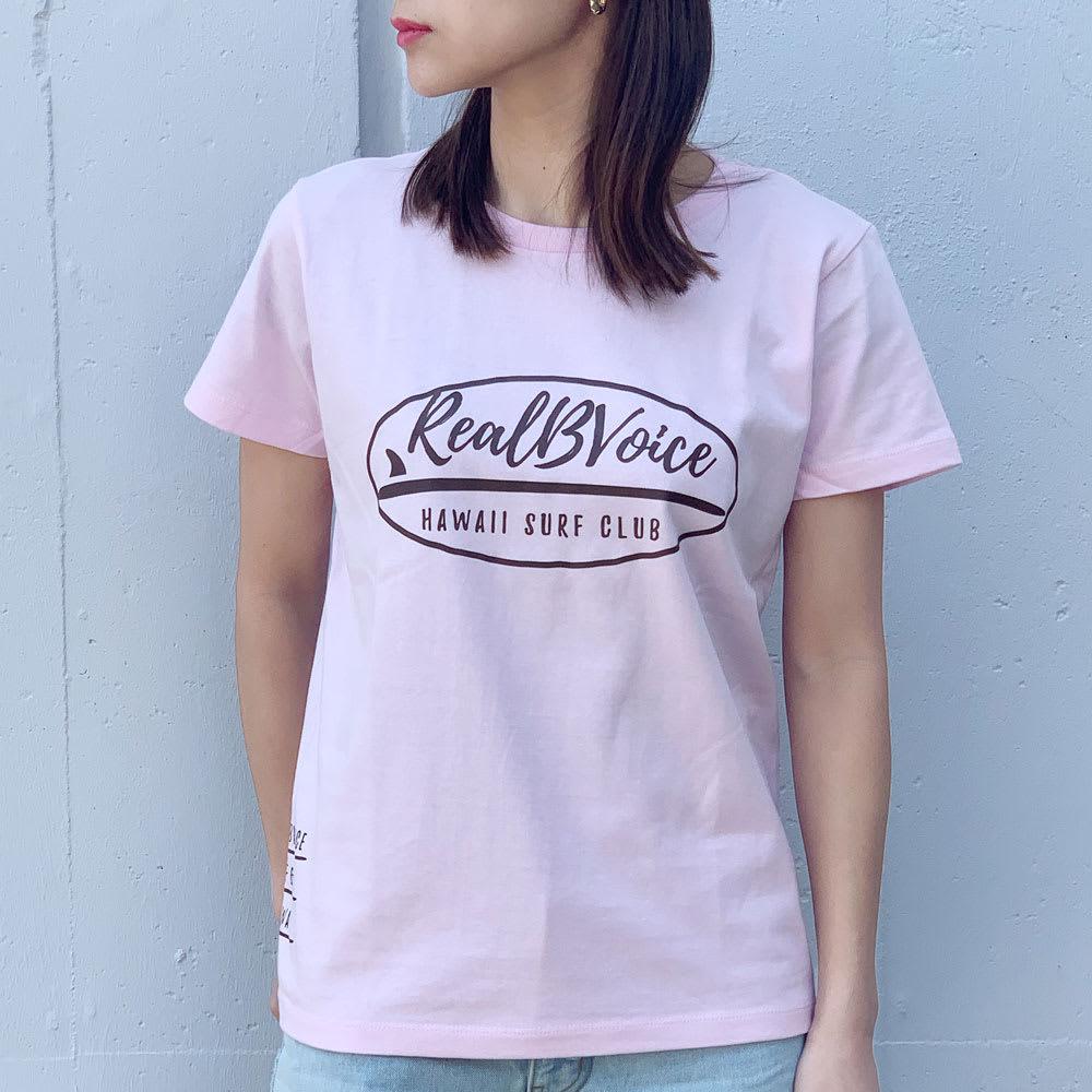 RealBvoice(リアルビーボイス)/ジャパンハート サーフボード レディスTシャツ モデル着用…(ウ)ライトピンク
