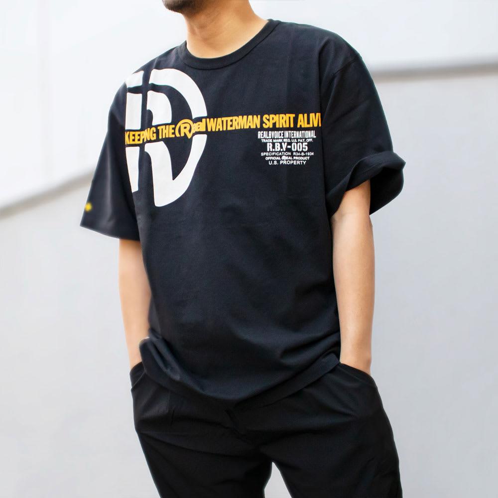 RealBvoice(リアルビーボイス)/ウォーターマン スピリット タイプS Tシャツ モデル着用…(ウ)ブラック