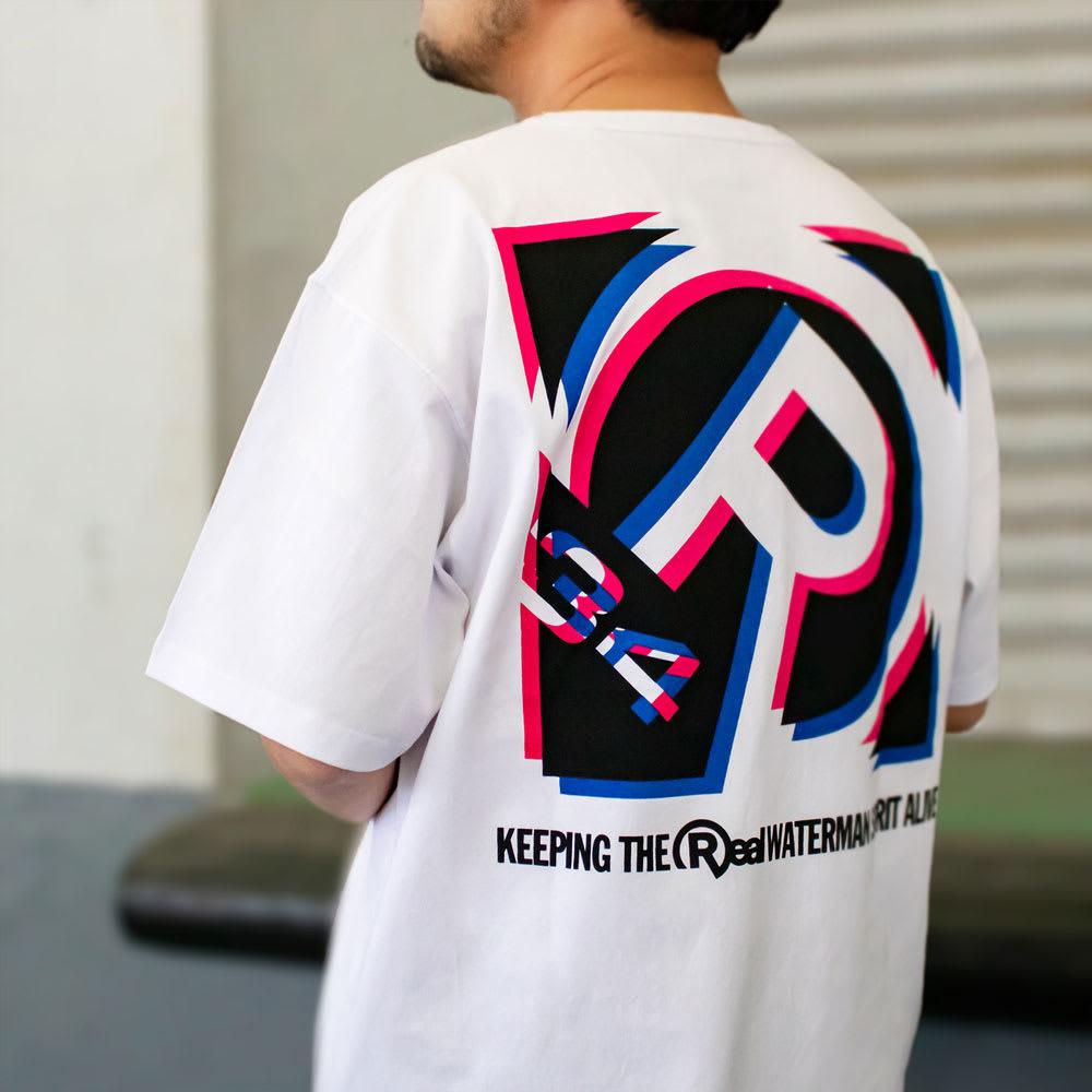 RealBvoice(リアルビーボイス)/ボックス シフト Tシャツ モデル着用…(ア)ホワイト